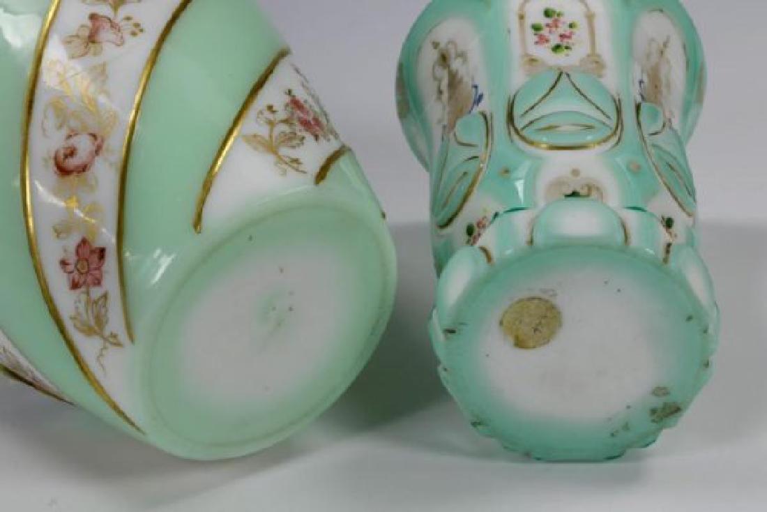 19th C. Bohemian Overlay Glass Decanter & Goblet - 6