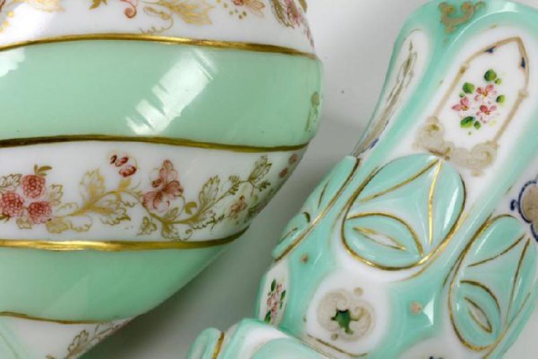 19th C. Bohemian Overlay Glass Decanter & Goblet - 7