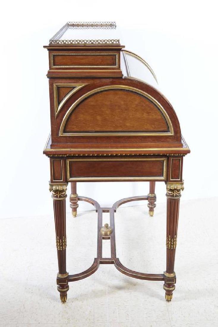 French Ormolu-Mounted Bureau a Cylindre Roll Top Desk S - 6