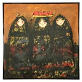 "Nasser Ovissi, (Iranian, Born 1934) ""Pomegranate Girl"""