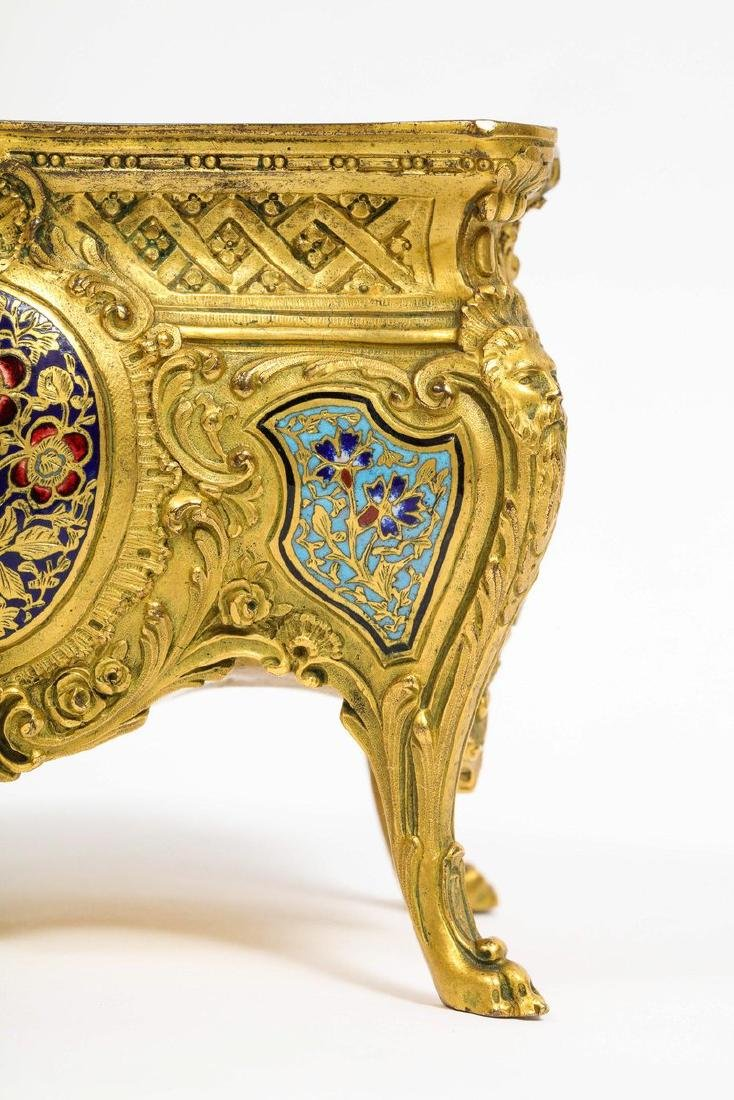 French Ormolu, Bronze and Champleve Cloisonne Enamel - 4