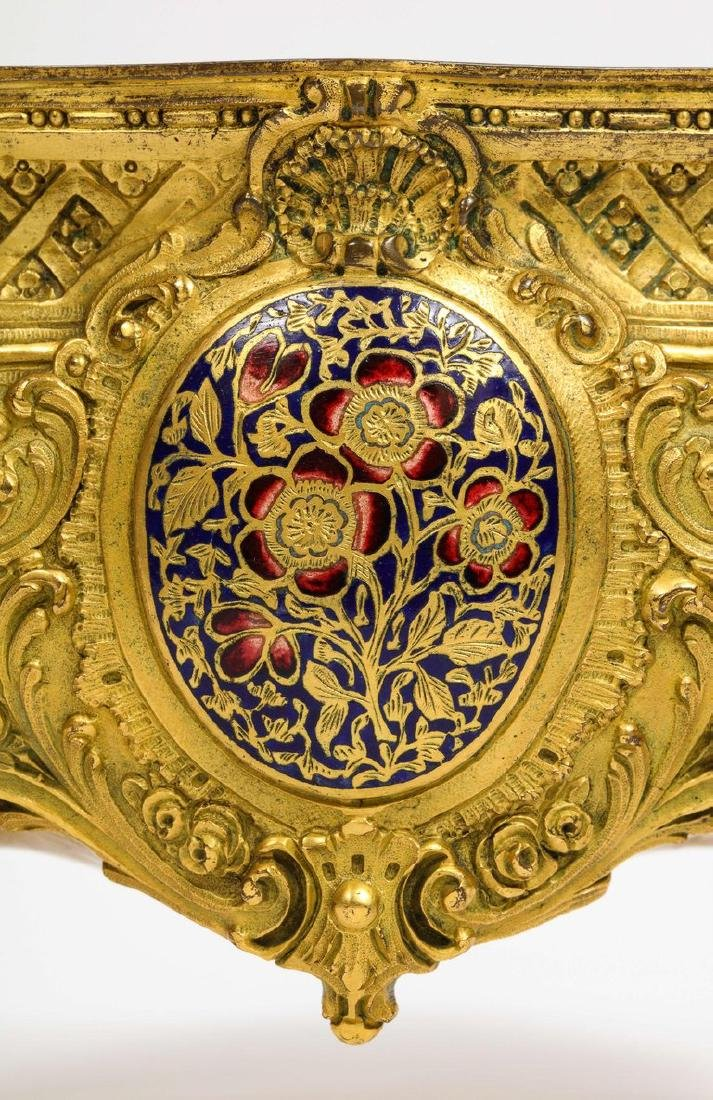 French Ormolu, Bronze and Champleve Cloisonne Enamel - 5
