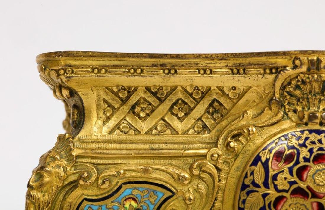 French Ormolu, Bronze and Champleve Cloisonne Enamel - 6