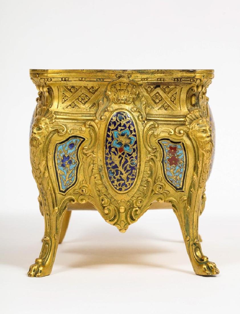 French Ormolu, Bronze and Champleve Cloisonne Enamel - 8