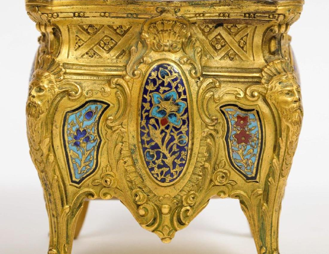 French Ormolu, Bronze and Champleve Cloisonne Enamel - 9