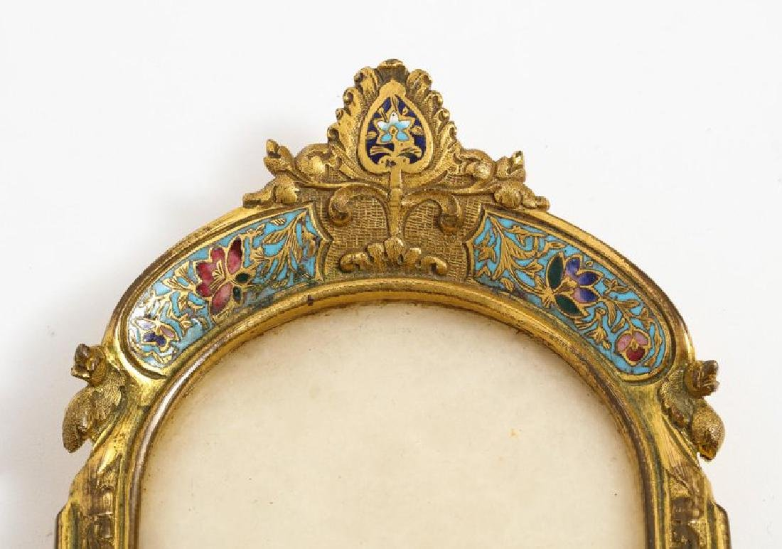 French Ormolu Bronze, Onyx, and Champleve Cloisonne - 10