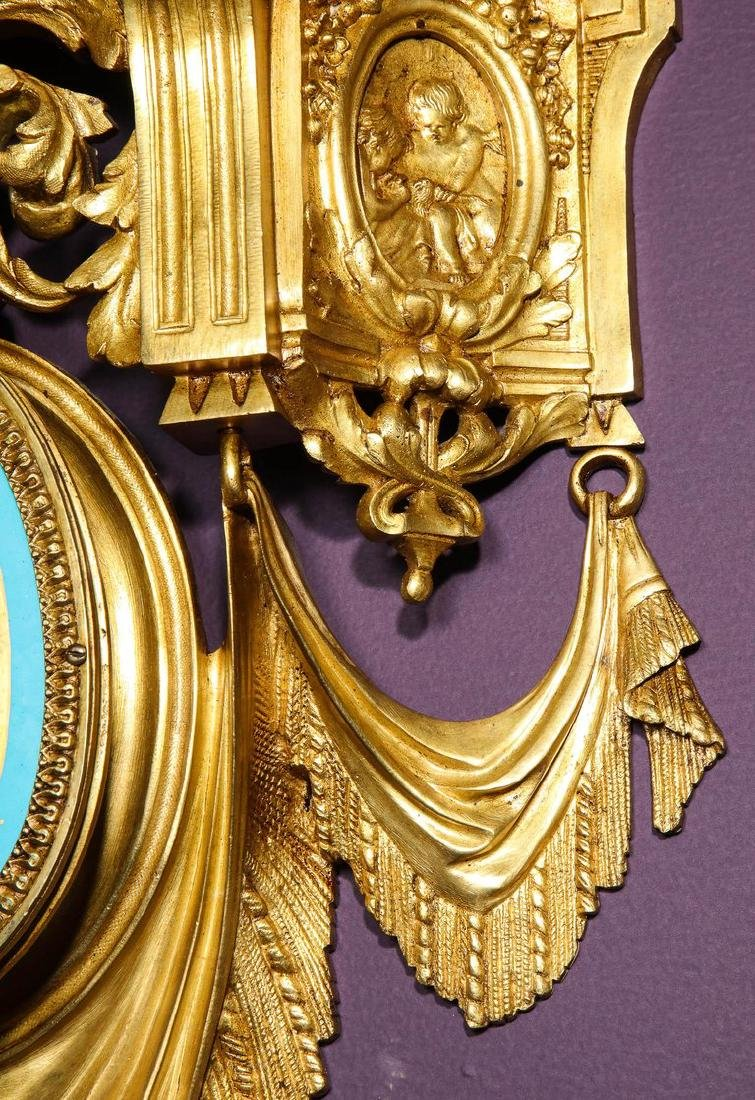 Pair of French Ormolu Bronze and Sevres Porcelain Wall - 6