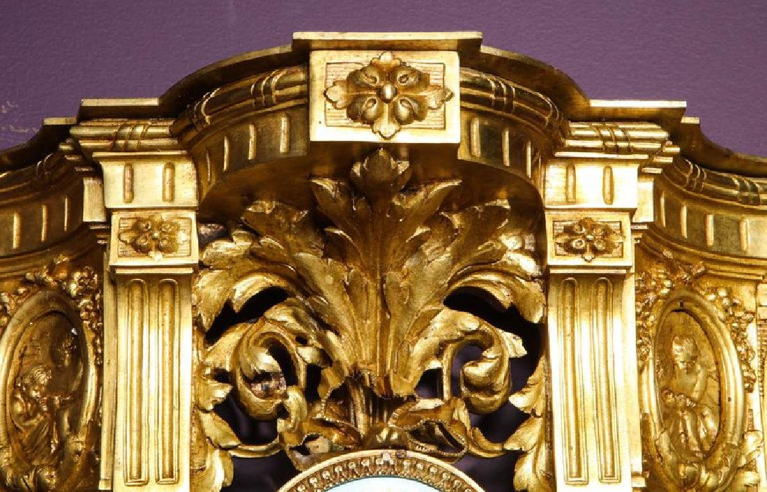 Pair of French Ormolu Bronze and Sevres Porcelain Wall - 7