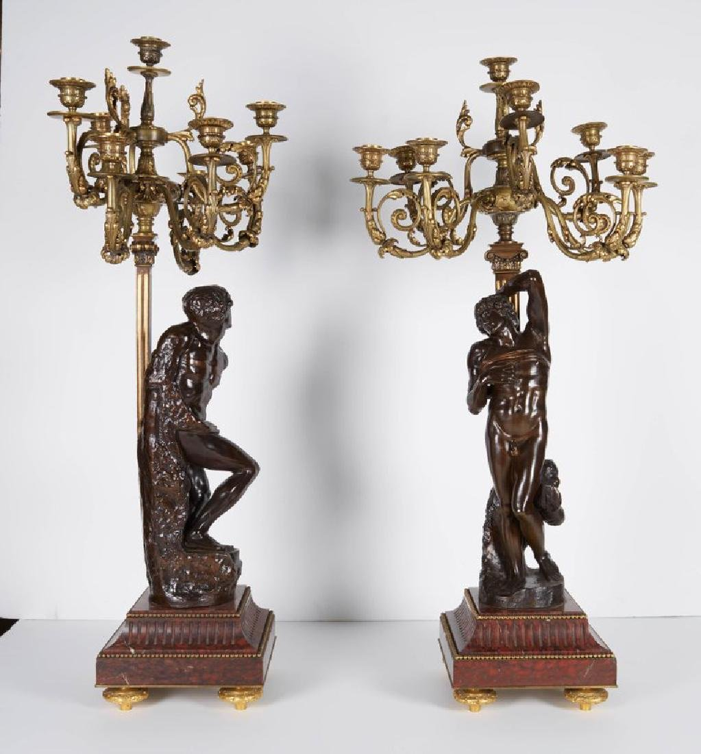 Ferdinand Barbedienne, a Large Pair of French Gilt Pati - 5