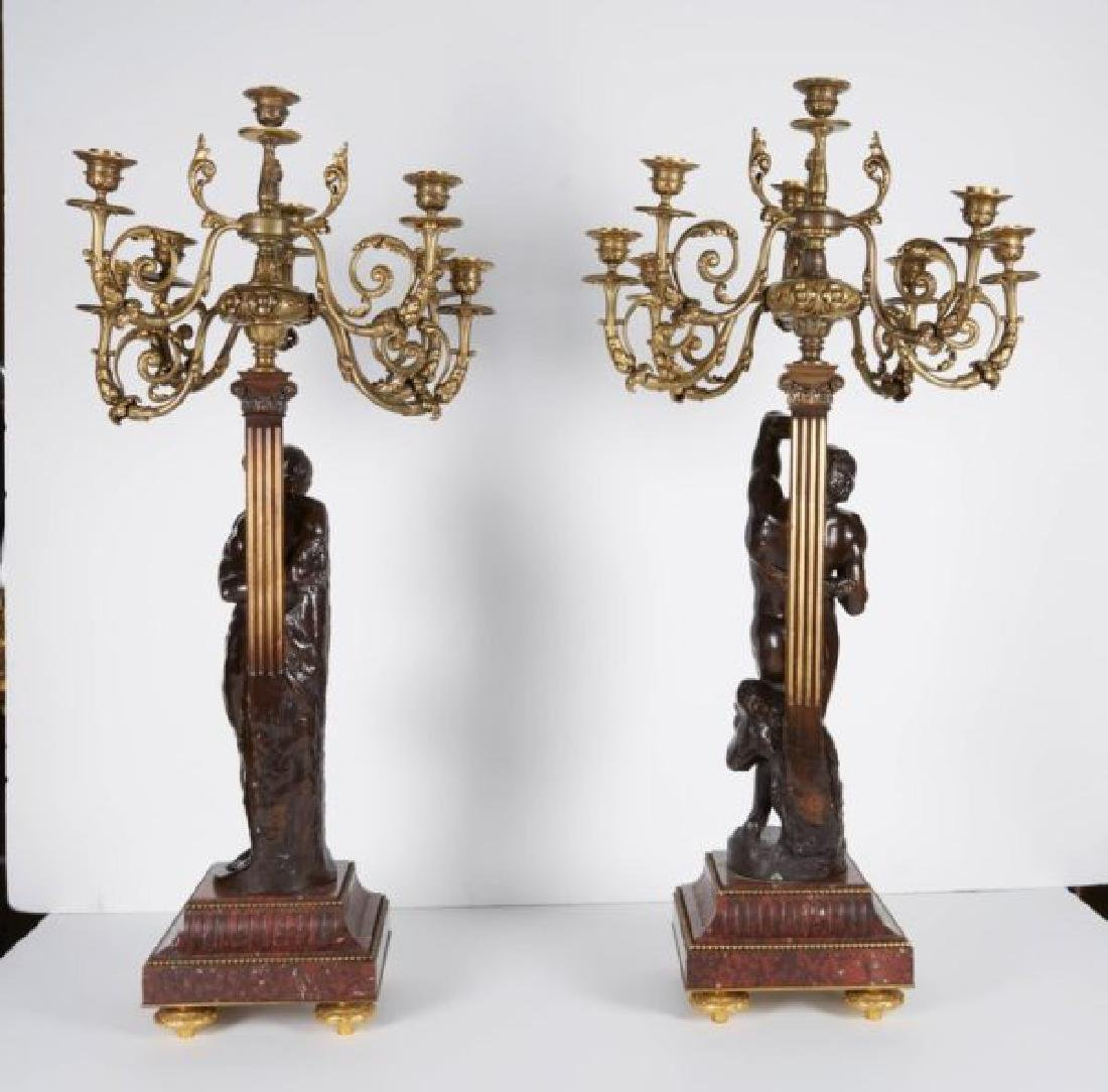 Ferdinand Barbedienne, a Large Pair of French Gilt Pati - 7