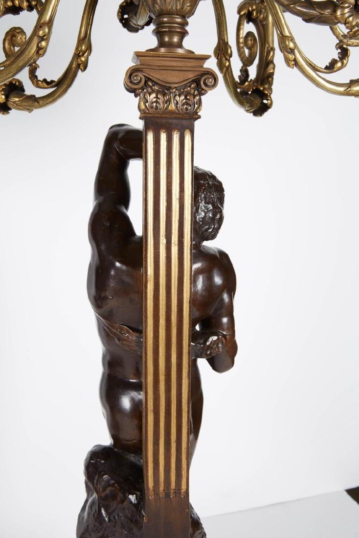 Ferdinand Barbedienne, a Large Pair of French Gilt Pati - 8