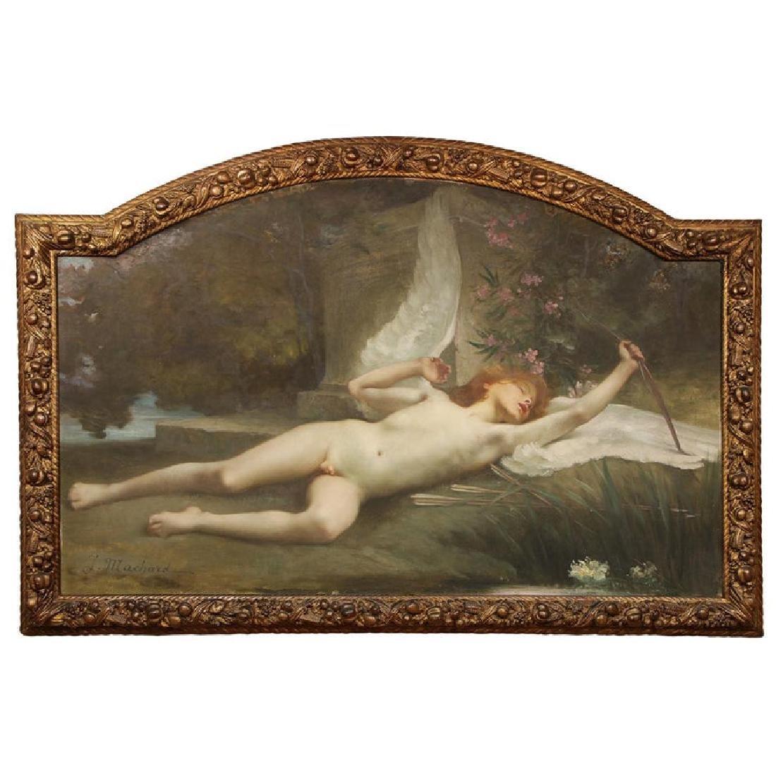"Jules-Louis Machard ""Dream of Eros"" Exceptional Oil"