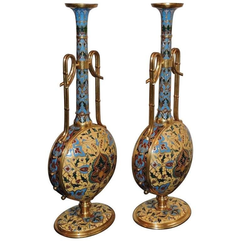 Extremely Rare Pair of Ferdinand Barbedienne Ormolu and