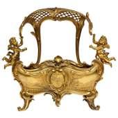 Exceptional Napoleon III French Ormolu Fireplace Log