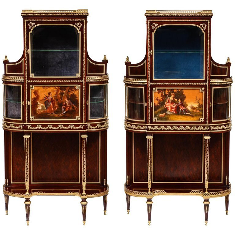 Francois Linke, Rare & Important Pair of French Ormolu