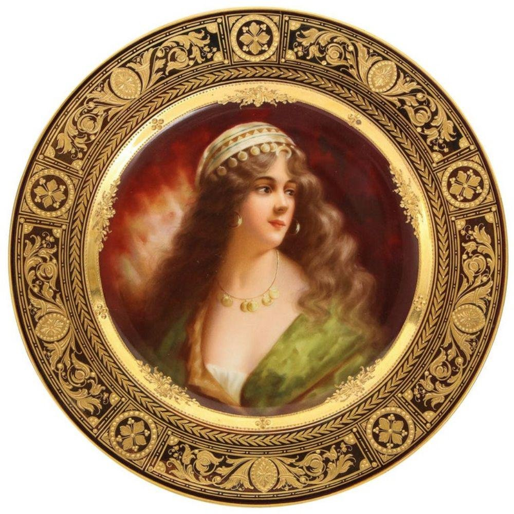 A Rare and Exceptional Royal Vienna Porcelain Plate of