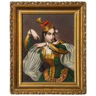Exceptional Quality Miniature Painting of an