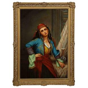 Oregon Wilson Gypsy Dancer Orientalist Oil Painting