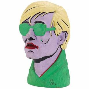 Limited Edition American Polychromed Rubber Bust of