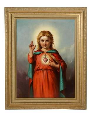 American School, (19th Century) Jesus Christ as A Baby
