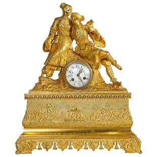 Exquisite French Charles X Ormolu Chinoiserie Figural