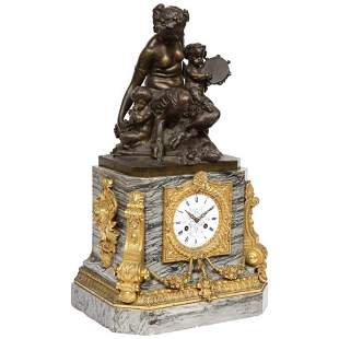 Thomire & Cie, French Gilt and Patinated Bronze and