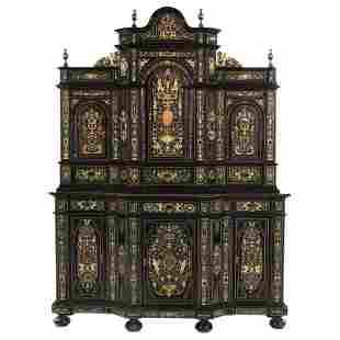 Extremely Fine Italian Baroque Ebonized Wood, Faux