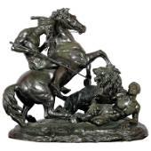 La Chasse Au Lion, The Lion Hunt, Monumental Bronze