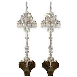 Cristalleries De Baccarat, a Large Pair of French Cut