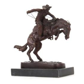 "After: Frederic Remington ""Bronco Buster"" Bronze"