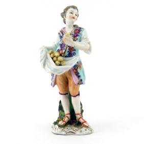 19th Century Dresden Hand Painted Porcelain Figurine