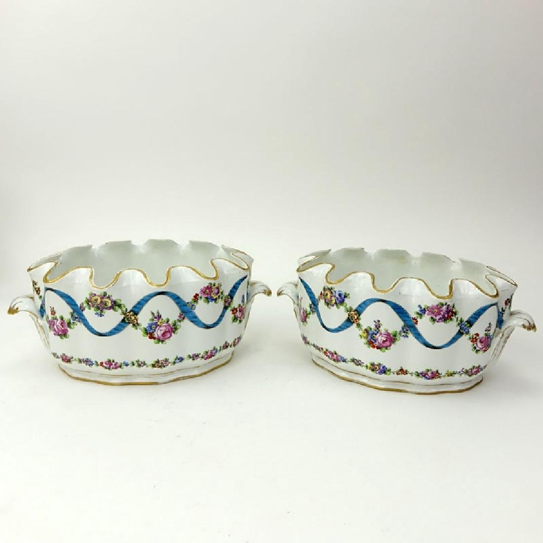 Pair of 18/19th Century French Porcelain Monteiths.