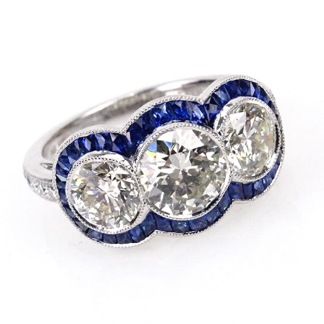Art Deco style Approx. 2.67 Carat Round Brilliant Cut