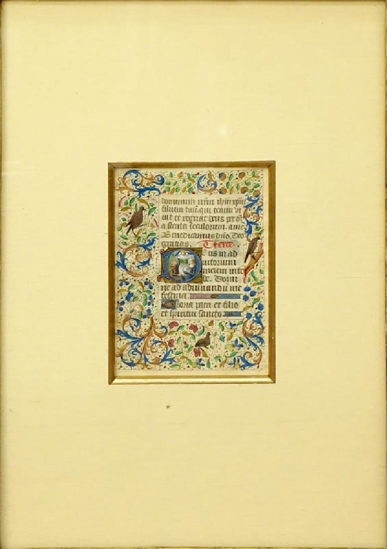 Early Hand Painted Illuminated Manuscript in finely - 3