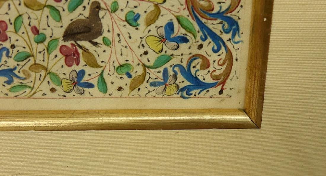 Early Hand Painted Illuminated Manuscript in finely - 4