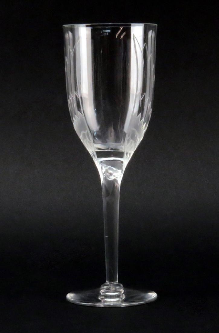Seven (7) Lalique Crystal Ange/Angel Champagne Flutes. - 2