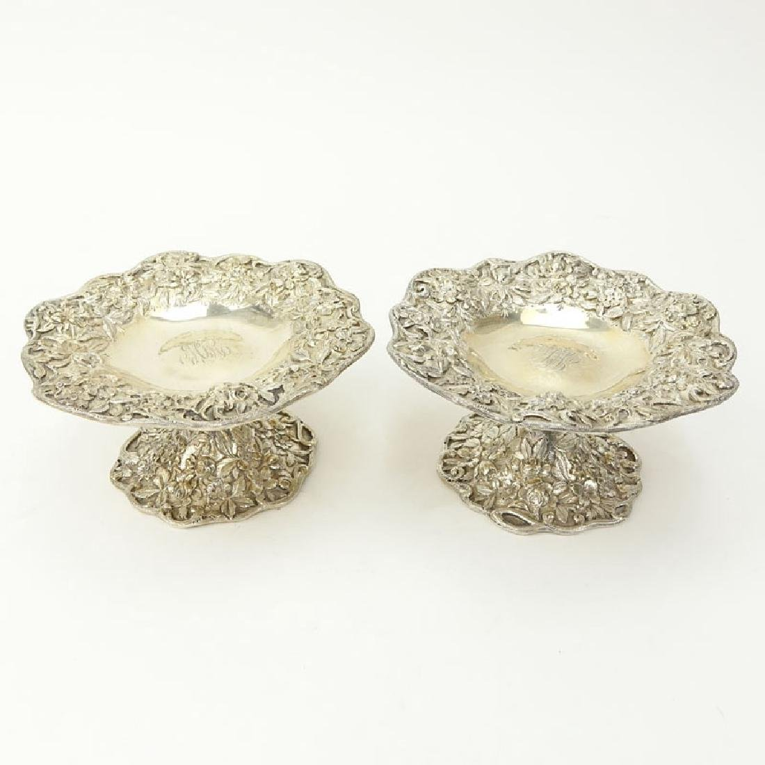 S. Kirk & Son Sterling Silver Repousse Compotes.
