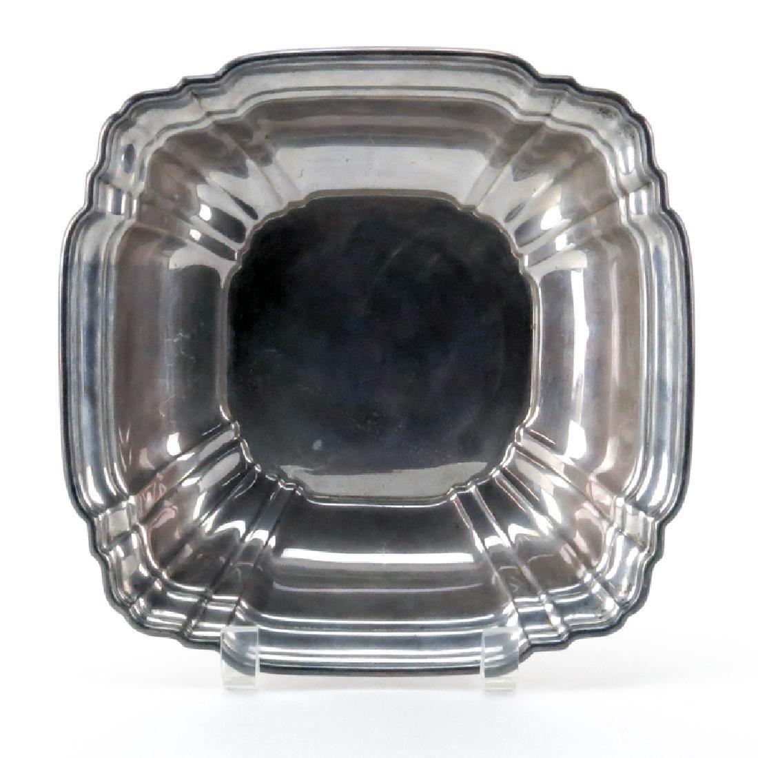Vintage Gorham Sterling Silver Square Bowl. Signed.