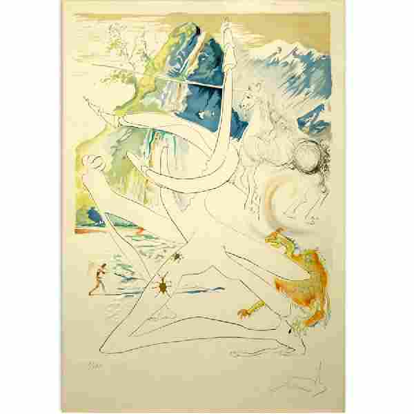 Salvador Dalí, Spanish (1904-1989) Circa 1974 Drypoint