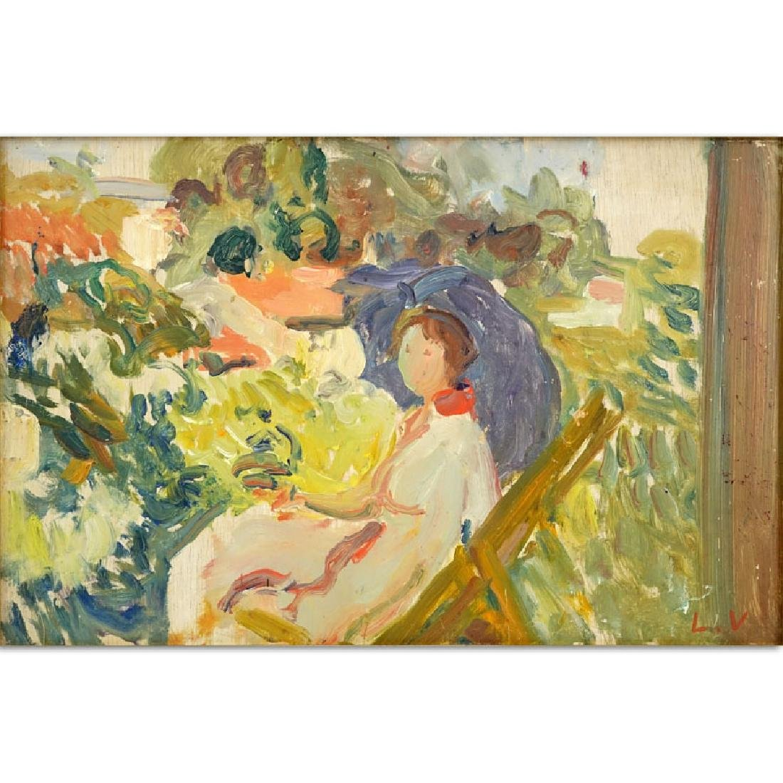 "Possibly: Louis Valtat (1869-1952) Oil on panel ""Girl"
