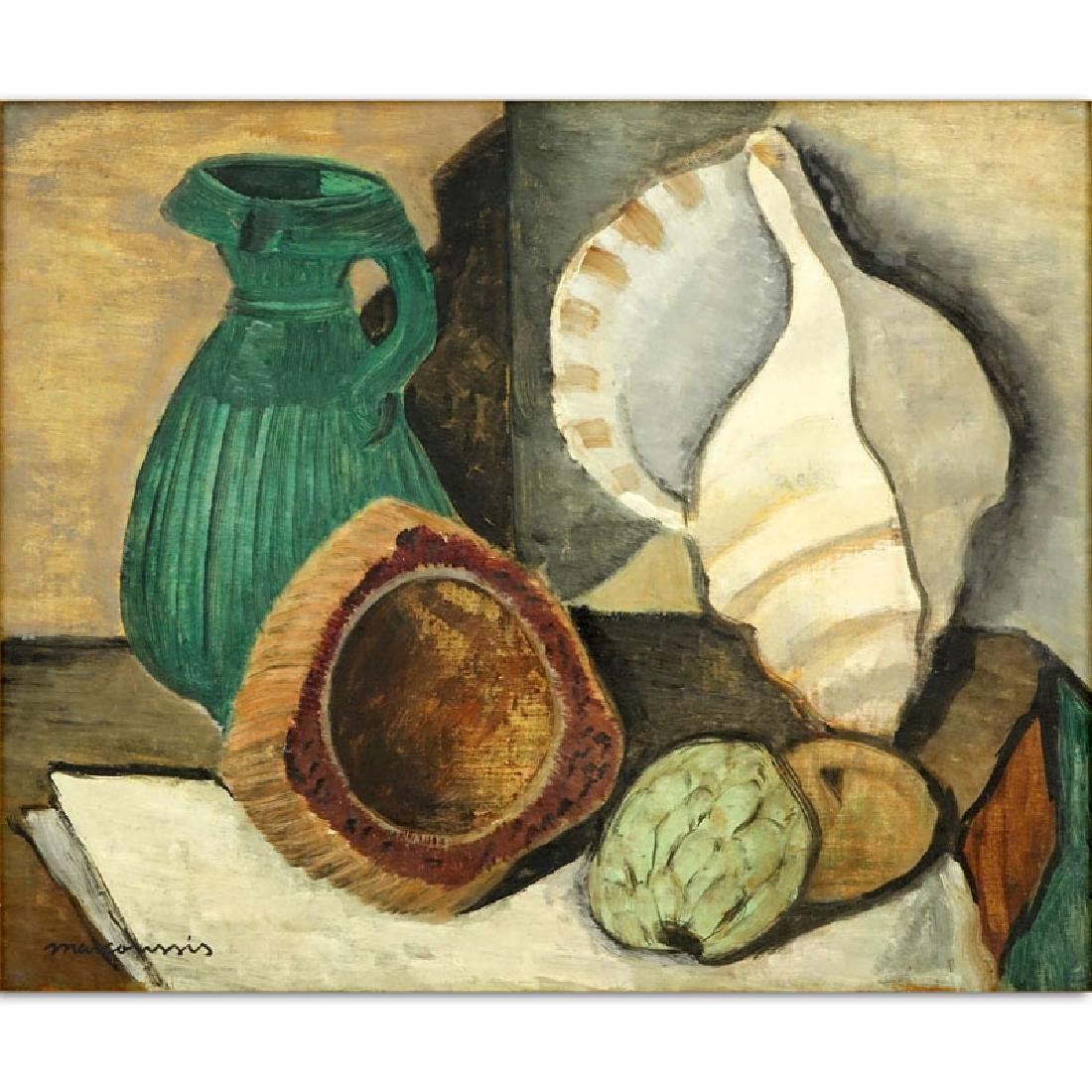 Attributed to: Louis Marcoussis, French (1883-1941) Oil