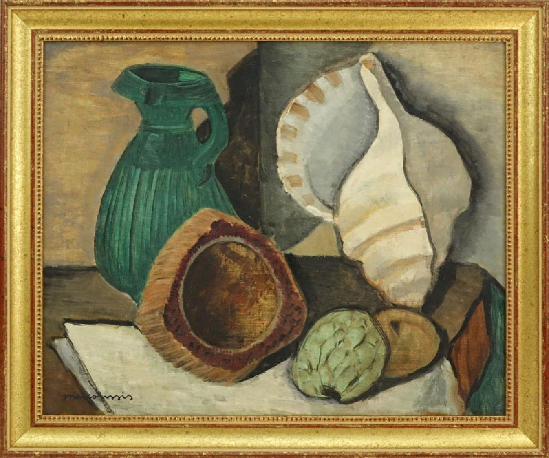 Attributed to: Louis Marcoussis, French (1883-1941) Oil - 2