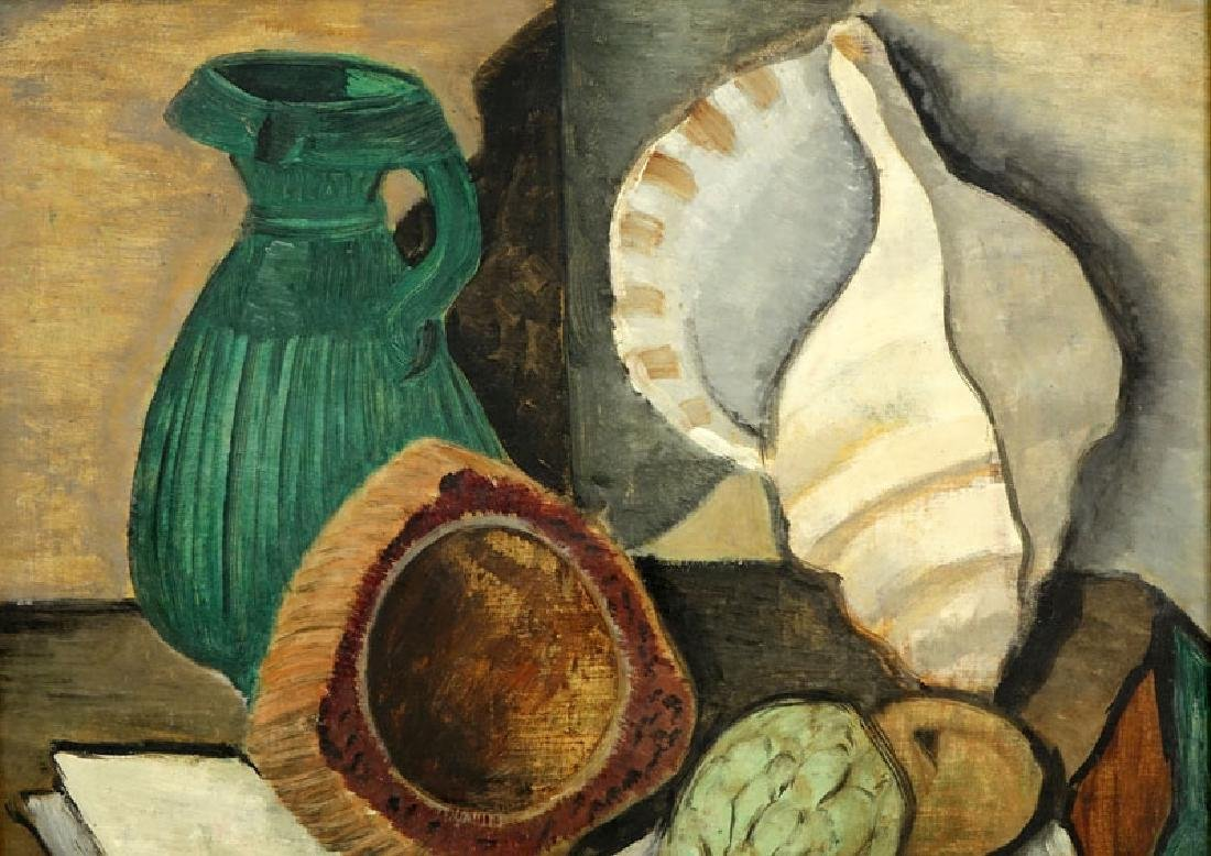 Attributed to: Louis Marcoussis, French (1883-1941) Oil - 4