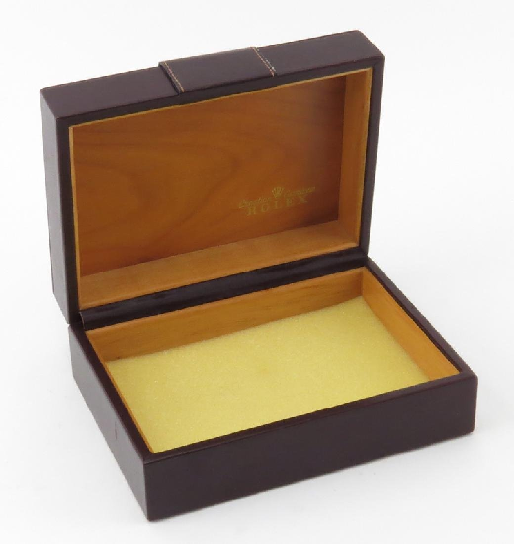 Vintage Rolex Wood Lined Watch Box. Good condition. - 2