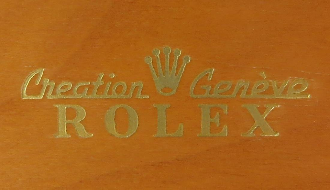 Vintage Rolex Wood Lined Watch Box. Good condition. - 5