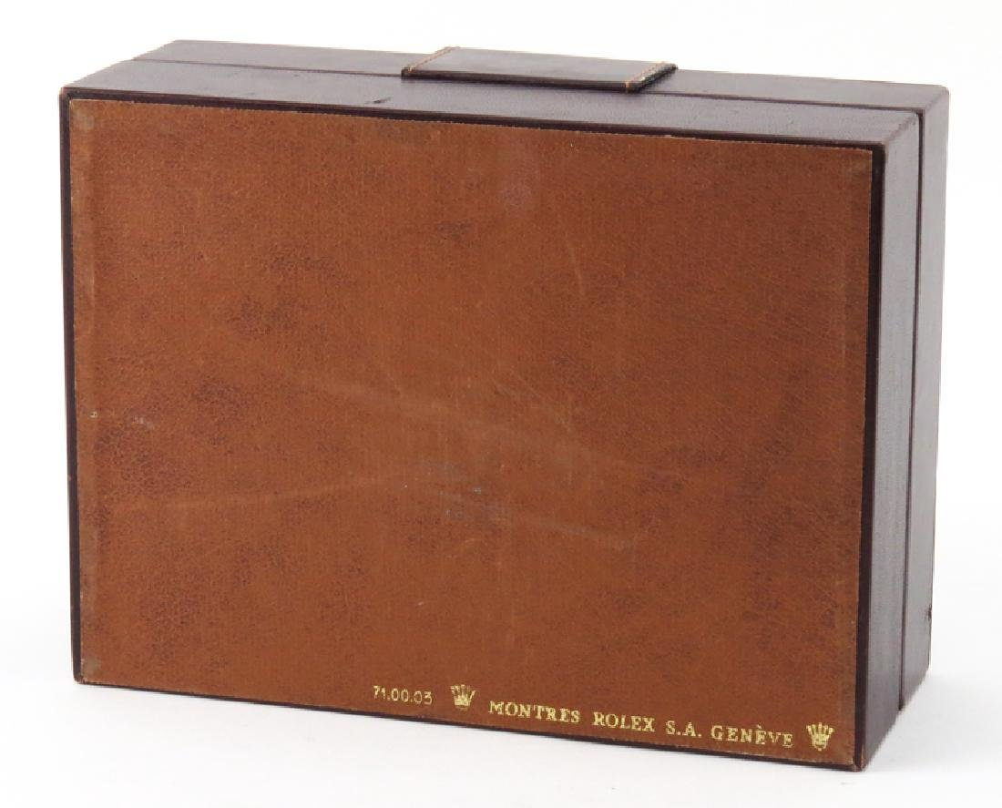 Vintage Rolex Wood Lined Watch Box. Good condition. - 6