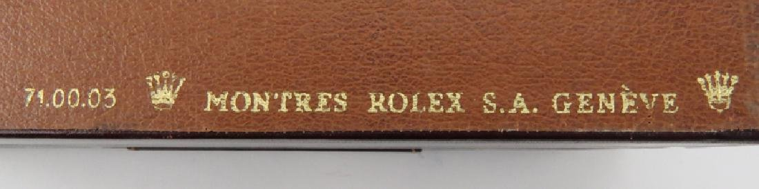 Vintage Rolex Wood Lined Watch Box. Good condition. - 7