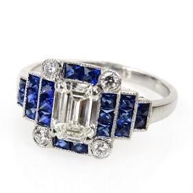 Art Deco style Approx. 1.0 Carat Emerald Cut Diamond,