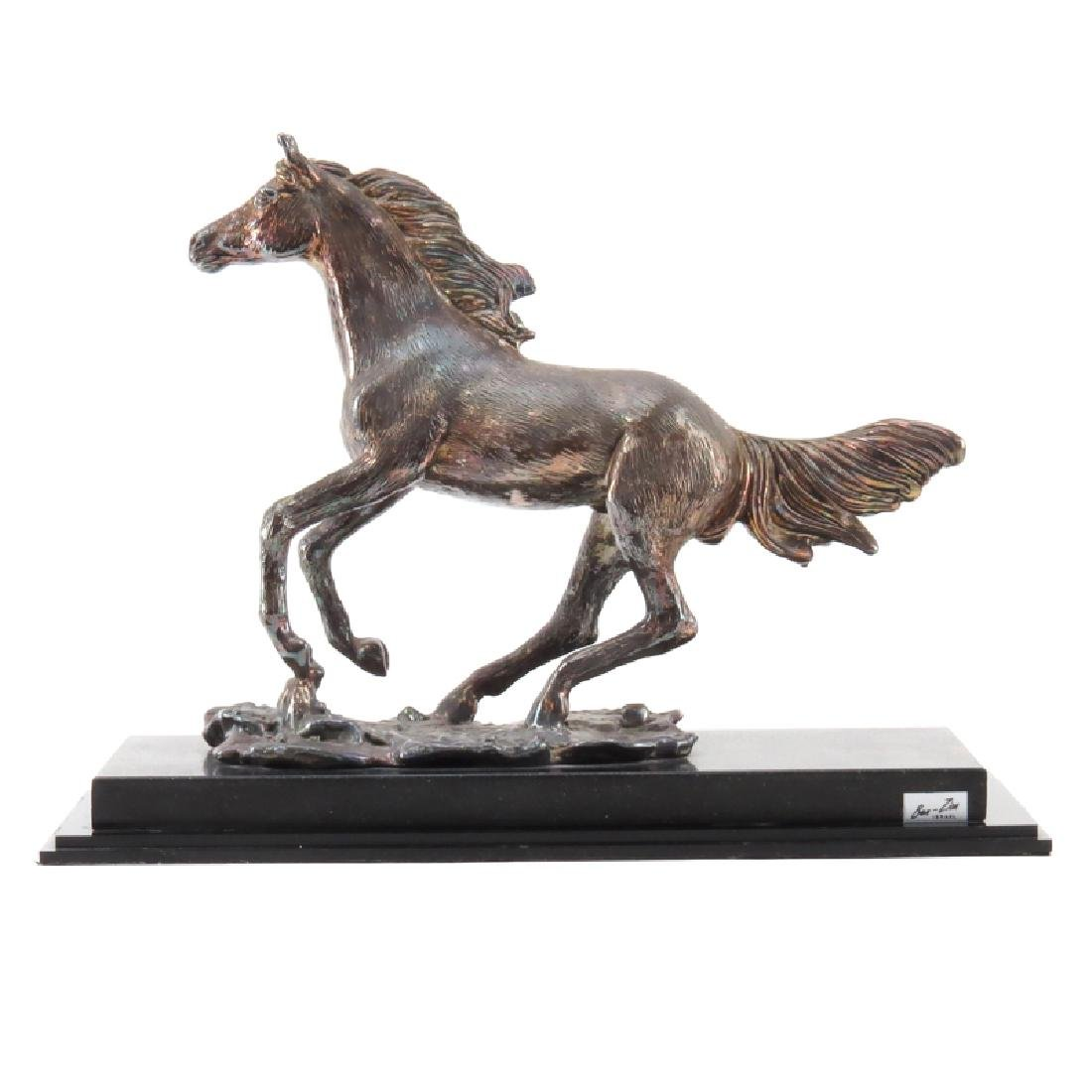 Ben Zion Judaica Sterling Silver Horse Sculpture On