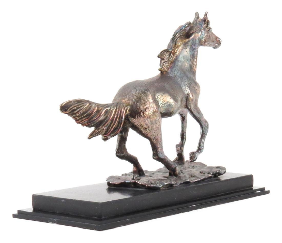 Ben Zion Judaica Sterling Silver Horse Sculpture On - 2